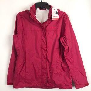 NWT Marmot Raspberry Hooded Zip Rain Jacket